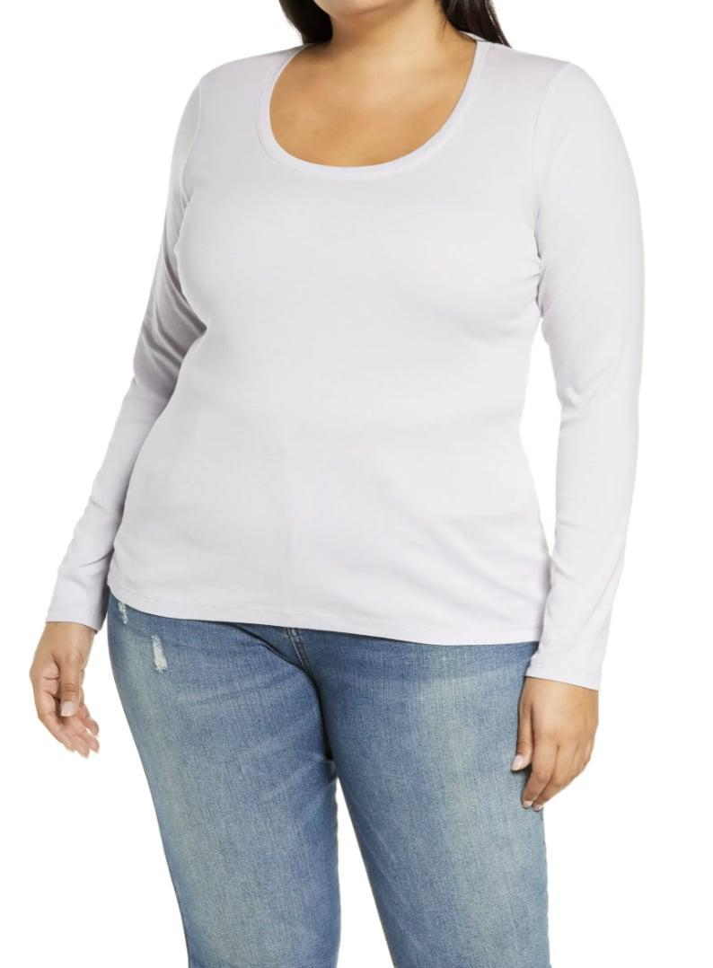 <p>Everyone needs a <span>CASLON Melody Long Sleeve Scoop Neck Tee</span> ($25) in their closet.</p>