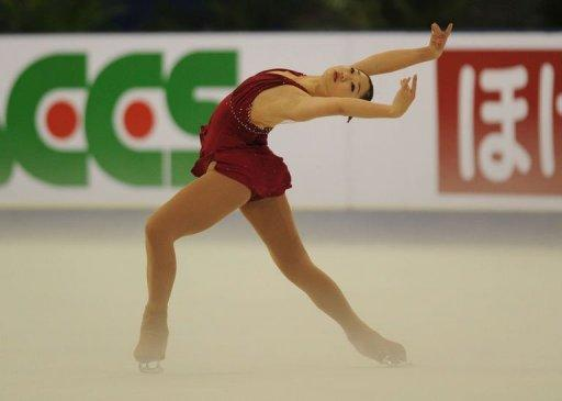 Mirai Nagasu of the US performs in the ladies short program during the ISU Grand Prix of Figure Skating 2011 in Shanghai. Nagasu ended the day at 60.96, taking the second place