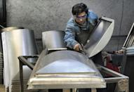 Production of caskets cannot easily be ramped up overnight, says factory manager Pedro Jaramillo