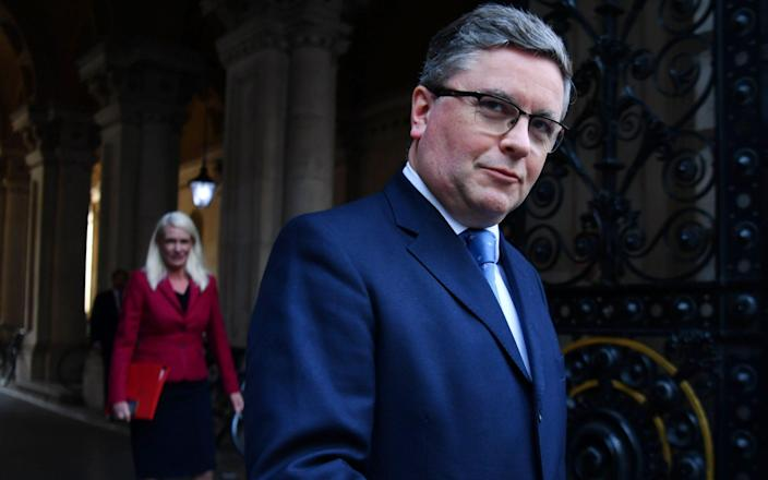 Robert Buckland after yesterday's Cabinet meeting - AFP