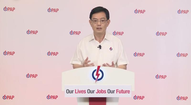 People's Action Party's Heng Swee Keat during his online speech criticising Worker's Party's stance on NCMP issue. (PHOTO: Screenshot/Facebook)