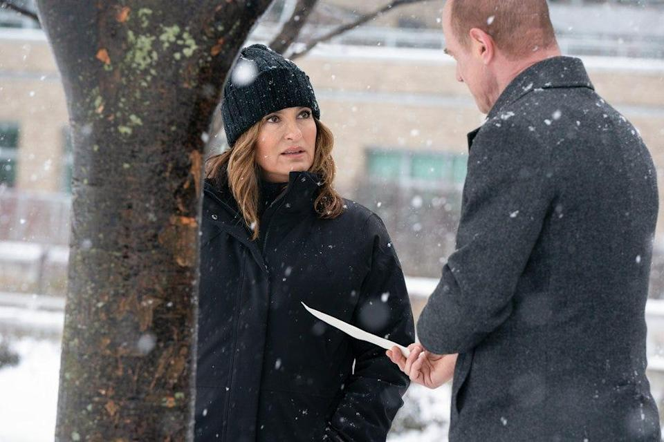 """""""Law & Order: SVU"""" fans waited a decade for the reunion of longtime partners Olivia Benson (Mariska Hargitay), left, and Elliot Stabler (Chris Meloni). They joined for a two-hour crossover that helped launch Meloni's """"Law & Order: Organized Crime."""""""
