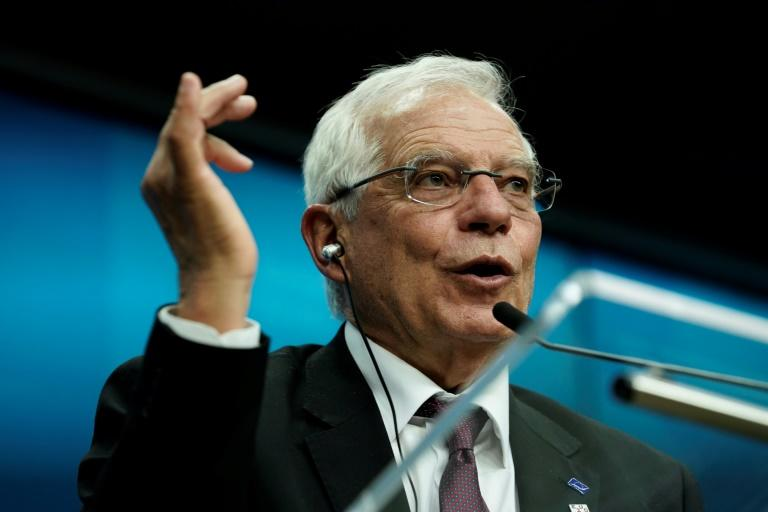 The EU's chief diplomat Josep Borrell has made it clear that Brussels does not want to be sidelined while Moscow and Ankara oversee an end to the Libyan conflict on their terms (AFP Photo/Kenzo TRIBOUILLARD)