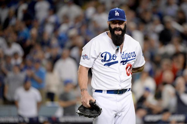 Brian Wilson is attempting a comeback … as a knuckleballer. (Getty Images)