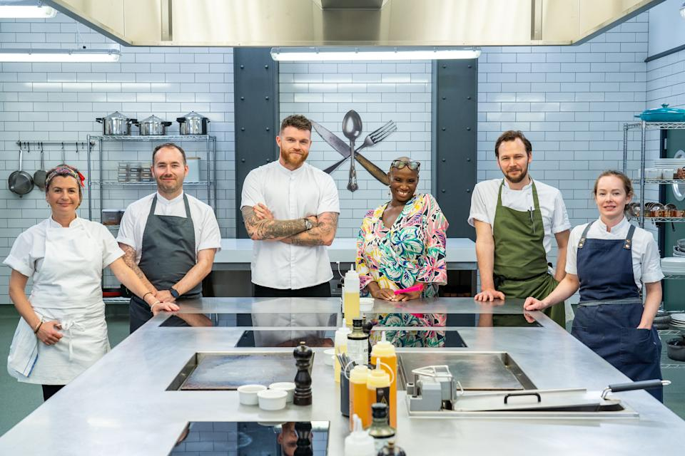The Scotland heat competitors are Amy Elles, Stuart Ralston, Scott Smith, and Roberta McCarron. (BBC/Optomen Television Limited/Ashleigh Brown)