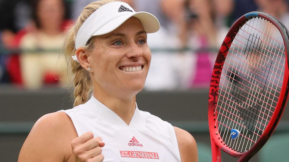 Angelique Kerber represents Ash Barty's 'ultimate test' at Wimbledon. (Photo by Tim Ireland/Xinhua via Getty Images)