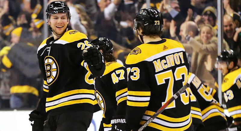 Brandon Carlo and Charlie McAvoy are both in need of a new contract. (Getty Images)