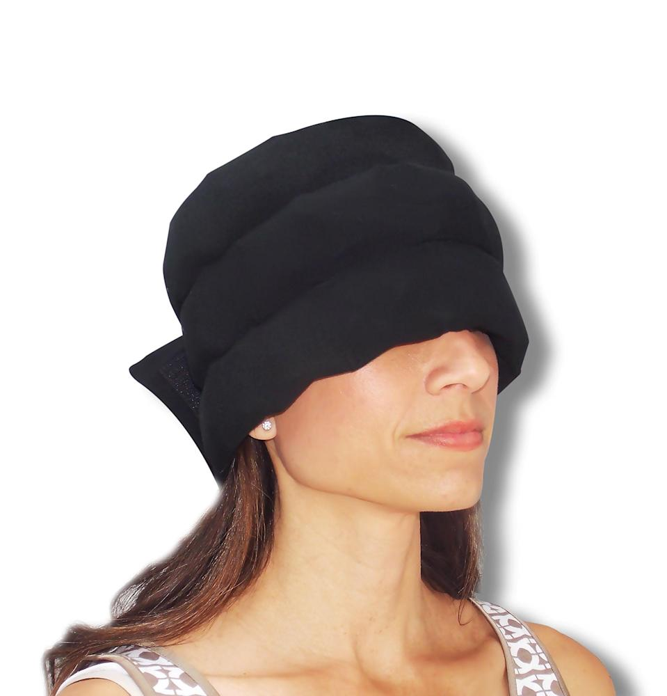 """<h3><strong>Headache Hat</strong></h3><br>Instead of a standard sleep mask, go even deeper down the wellness rabbit hole and give her a headache hat —this top-rated, U.S.-crafted good provides soothing compression and tension relief. <br><br><strong>Headache Hat</strong> The Original Headache Hat, $, available at <a href=""""https://amzn.to/3baa1oc"""" rel=""""nofollow noopener"""" target=""""_blank"""" data-ylk=""""slk:Amazon"""" class=""""link rapid-noclick-resp"""">Amazon</a>"""