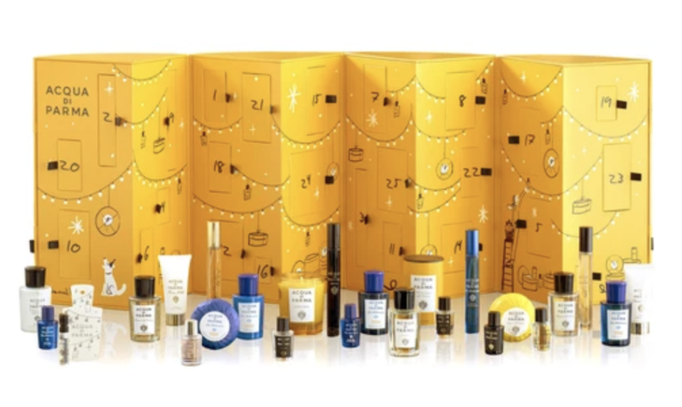 "<p><strong>ACQUA DI PARMA</strong></p><p>24s.com</p><p><strong>$480.00</strong></p><p><a href=""https://go.redirectingat.com?id=74968X1596630&url=https%3A%2F%2Fwww.24s.com%2Fen-us%2Fadvent-calendar-xmas-2020-acqua-di-parma_ADPEDCVK%3FdefaultSku%3DADPEDCVKZZZZZZZZ00%26color%3Dno_color%26lgw_code%3D4181-ADPEDCVKZZZZZZZZ00%26gclid%3DCjwKCAiA4o79BRBvEiwAjteoYJ3_IBCR4P-bG8o6zBrp917hJNq0XwsY4UIoA2Tk3B7ndXOuyxsfuBoCyCsQAvD_BwE%26gclsrc%3Daw.ds&sref=https%3A%2F%2Fwww.veranda.com%2Fshopping%2Fhome-accessories%2Fg34591437%2Fbest-advent-calendars%2F"" rel=""nofollow noopener"" target=""_blank"" data-ylk=""slk:Shop Now"" class=""link rapid-noclick-resp"">Shop Now</a></p>"