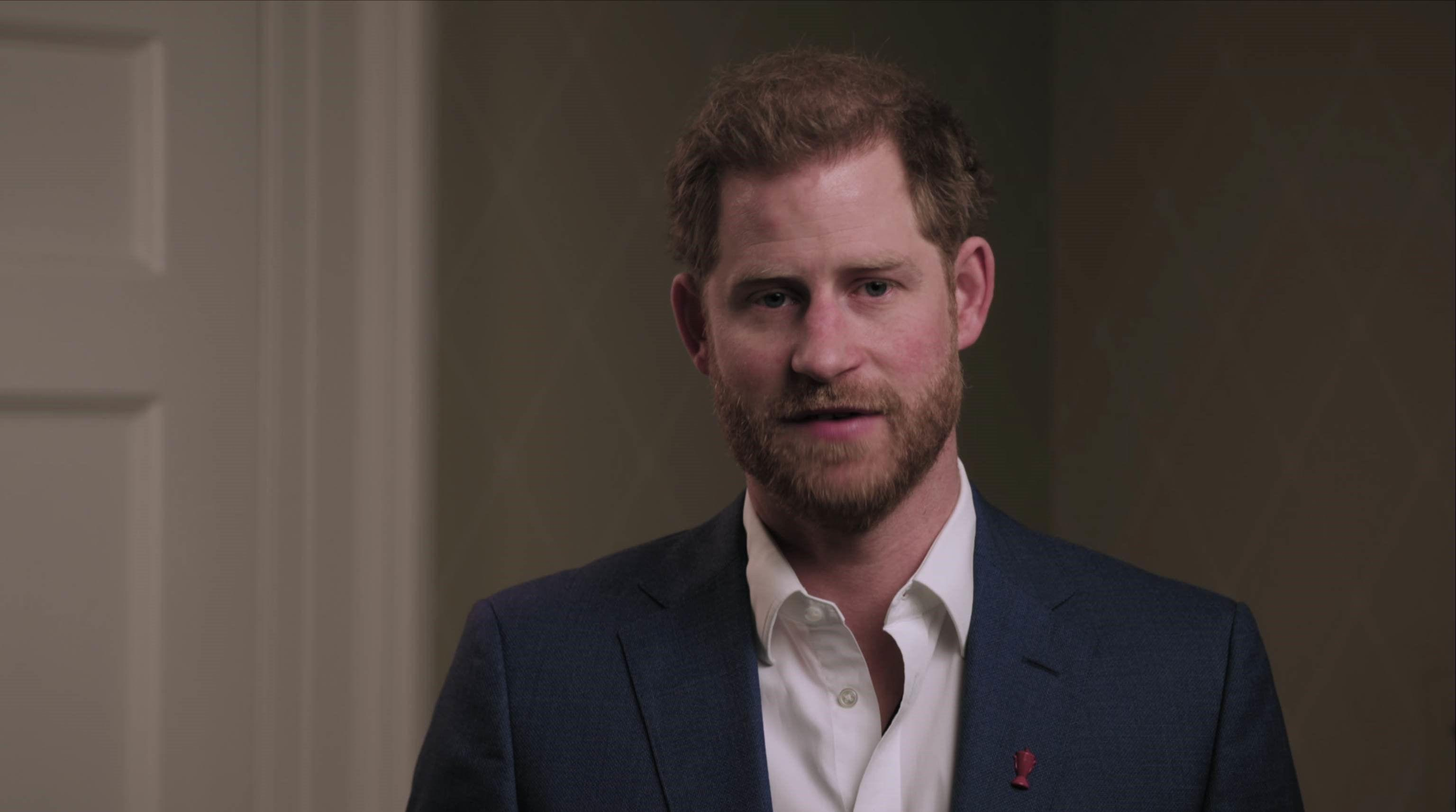 A screengrab taken from a video issued by Rugby League World Cup 2021 (RLWC2021) of the Duke of Sussex, the patron of the Rugby Football League, speaking about mental health. [Photo: PA]