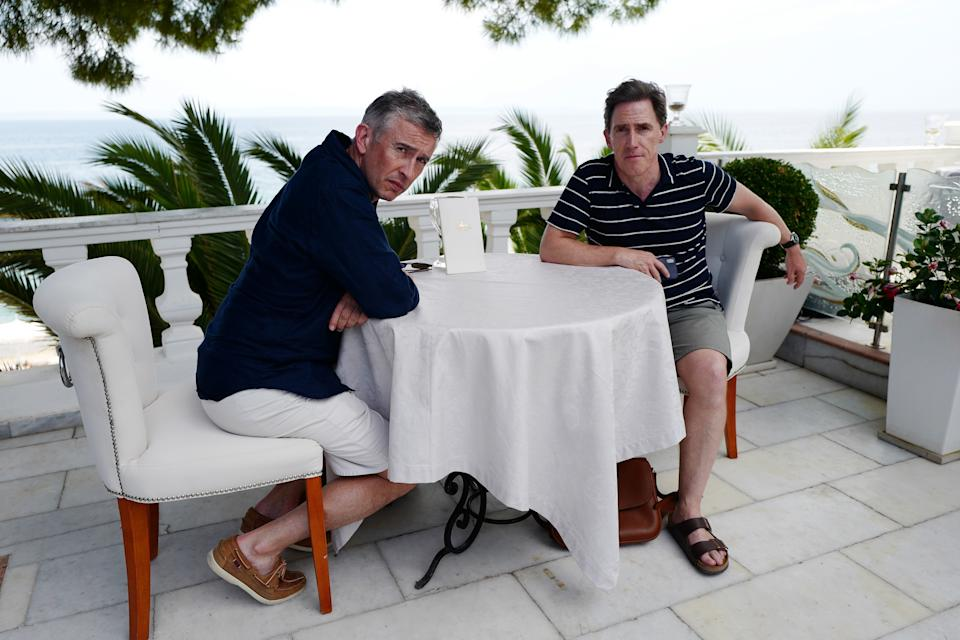 Steve Coogan and Rob Brydon in The Trip To Greece. (Sky)
