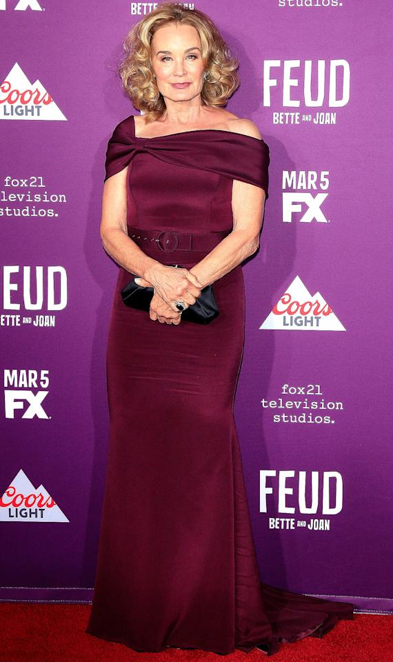 """At 68 years old, Lange is hitting a high point in her career. Lange has been awarded three Emmys since 2010, and has snagged roles in critically acclaimed shows like<i>American Horror Story </i>and <i>Feud: Bette and Joan. </i>But even someone like Lange, who is having so much success, admits that it's tough to do well as an actress as one gets older. """"Ageism is pervasive in this industry,"""" <a href=""""http://www.aarp.org/entertainment/television/info-2017/jessica-lange-news-interview.html"""">she told <i>AARP The Magazine</i></a>. """"It's not a level playing field. You don't often see women in their 60s playing romantic leads, yet you will see men in their 60s playing romantic leads with costars who are decades younger."""" Her solution? Find the arenas that work for you. """"I think about how few wonderful actresses of my generation are still doing viable, important film work,"""" she says. """"You go to television. You go to the stage. You do whatever you can because you want to keep working."""""""