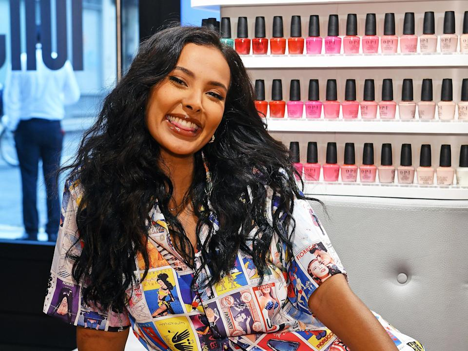Maya Jama attends the MIJ Masks media event at RAWR Beauty on 17 June 2021 in London (Dave Benett/Getty Images)