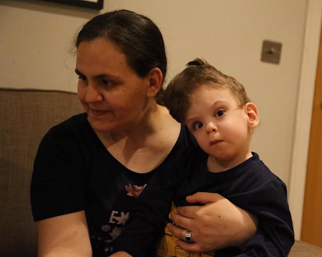 Fatma Evrensel said previously she could never hug or cradle her children. (Getty Images)