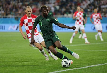 Soccer Football - World Cup - Group D - Croatia vs Nigeria - Kaliningrad Stadium, Kaliningrad, Russia - June 16, 2018 Nigeria's Kelechi Iheanacho in action REUTERS/Ivan Alvarado