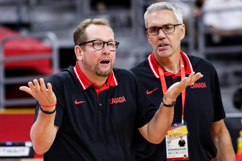 Nick Nurse, coach of Canada, in action during the 2019 FIBA World Cup (Photo by Zhizhao Wu/Getty Images)