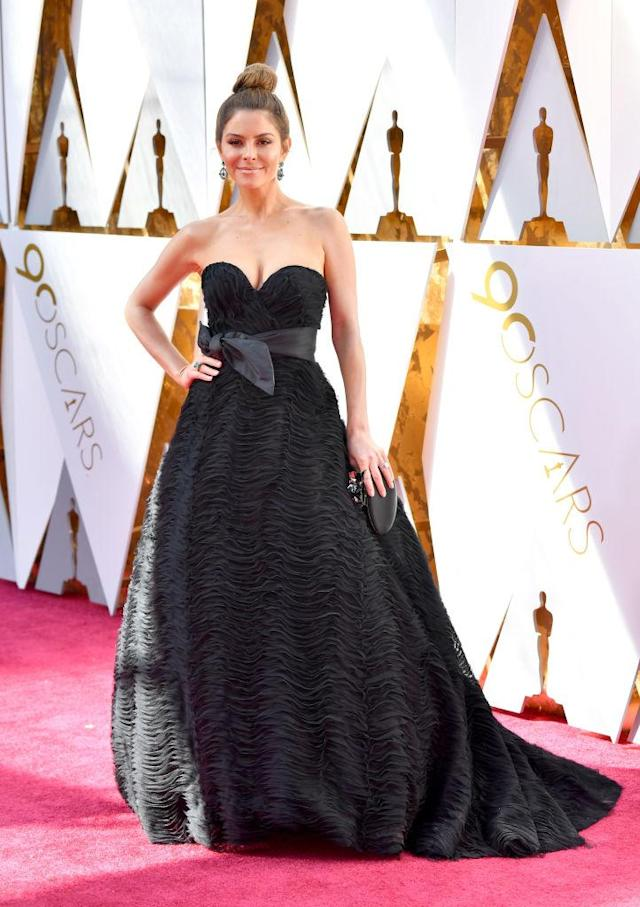 <p>Maria Menounos attends the 90th Academy Awards in Hollywood, Calif., March 4, 2018. (Photo: Getty Images) </p>