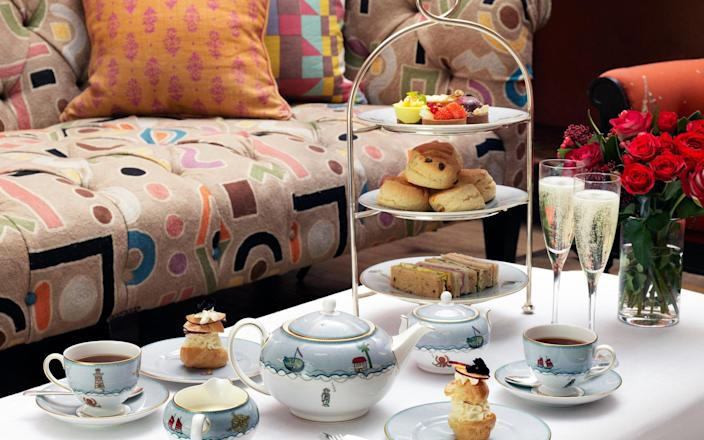 The Ham Yard hotel's sparkling afternoon tea