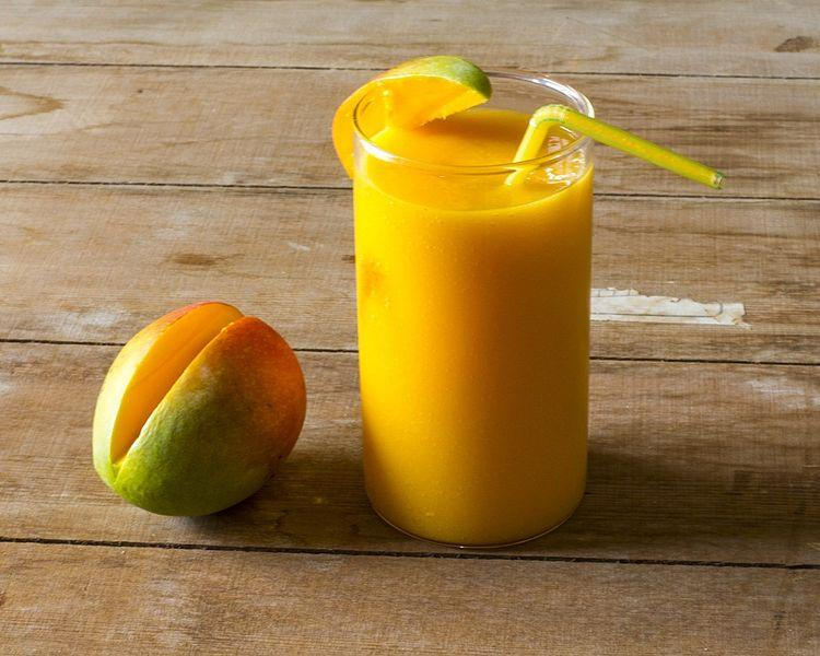 "<p>Nothing tastes more like summer than this delicious mango smoothie made with king of fruits. Available in summer, mangoes are loaded with many health benefits. Reserach indicates mangoes help fight cancer, alkalise the body, act as a skin cleanser & are high on Vitamin C. Blend together 150 ml cold soy milk & two chopped ripe mangoes till smooth. You can also blend mangoes with yogurt if you wish. Serve topped with a few chopped nuts of choice. ""Creative Commons Fresh Mango Smoothie"" by Vivek Pat 30 is licensed under CC BY 4.0 </p>"
