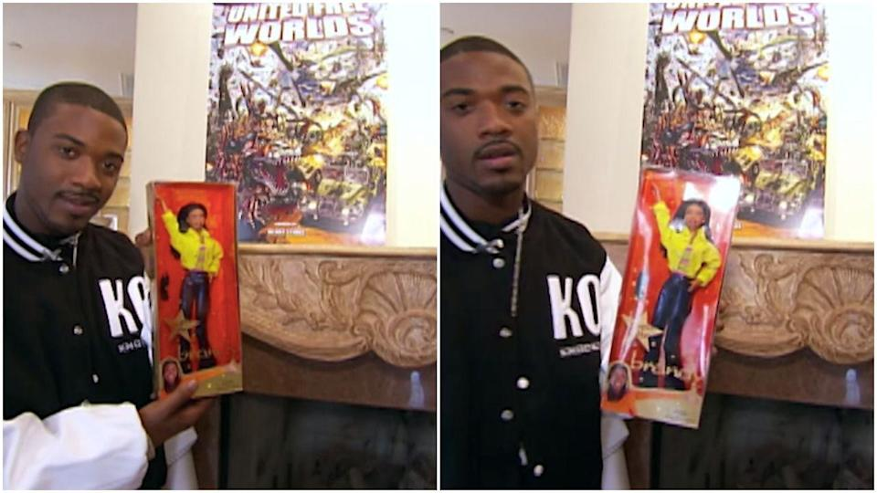 <p>Hi, here's Ray J with the collection of Brandy dolls he keeps on his mantle! World's most supportive brother.</p>
