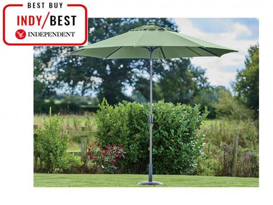 Create a stylish bit of shade with this parasol that we found to be sturdy and easy to adjust (The Independent)