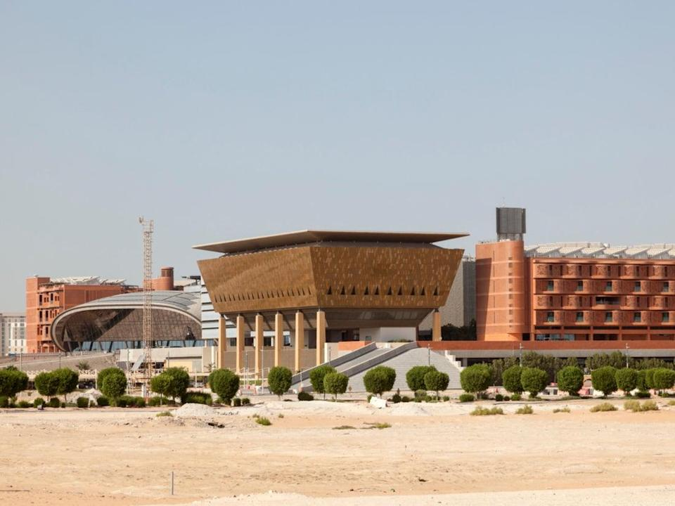 <p>Masdar City's Institute of Science and Technology entire complex is built on the principles of renewable energy</p> (Getty Images/iStockphoto)
