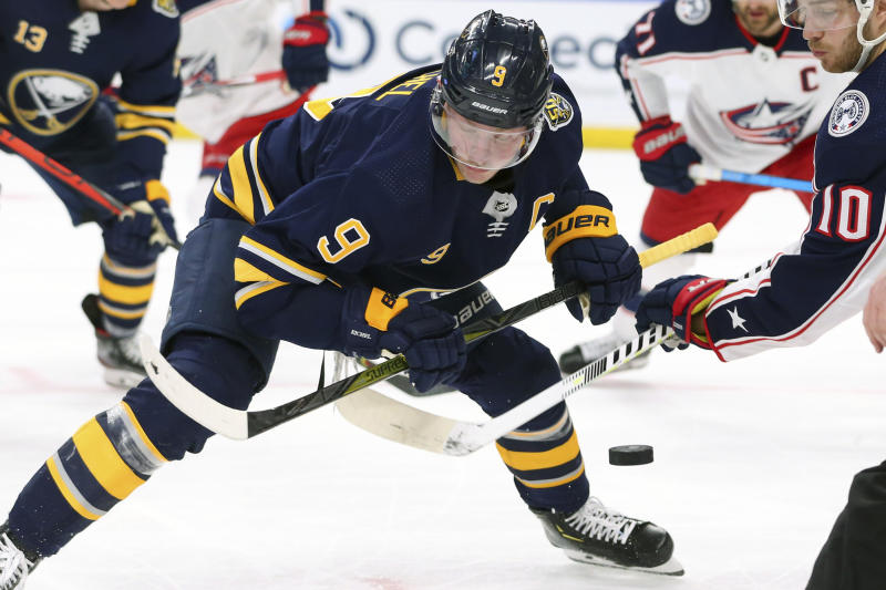 Eichel scores in OT to give Sabres 2-1 win over Blue Jackets