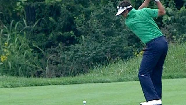 Gonzalo Fernandez-Castano nearly aced the par-4 4th at the PGA Championship