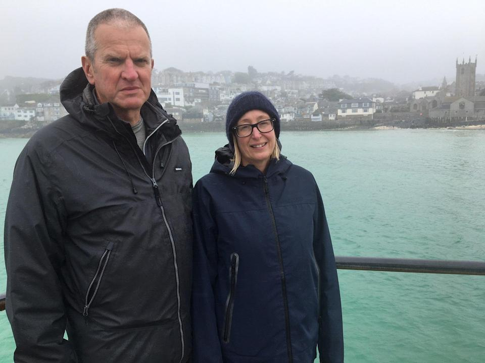 Neil Scott and Gill Anderson Scott oppose the G7 Summit being held in St Ives (Independent)