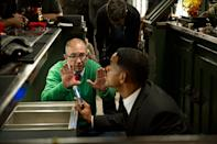 """Barry Sonnenfeld and Will Smith on the set of Columbia Pictures' """"Men in Black 3"""" - 2012"""