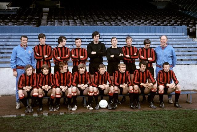 Manchester City's team from 1970