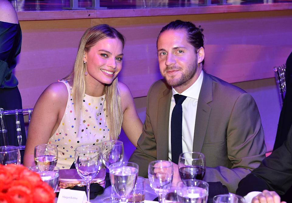 NEW YORK, NY - APRIL 25:  Margot Robbie and Tom Ackerley attend 2017 Time 100 Gala at Jazz at Lincoln Center on April 25, 2017 in New York City.  (Photo by Kevin Mazur/Getty Images for TIME)