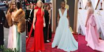 <p>Some of the most memorable looks in fashion history happened during the 90 years of the Academy Awards. From Lauren Hutton's rainbow gown and Audrey Hepburn's auction-worthy Givenchy frocks to the gown that made Jennifer Lawrence trip on stage, we're taking a look back at the most memorable looks from the biggest night in Hollywood. </p>