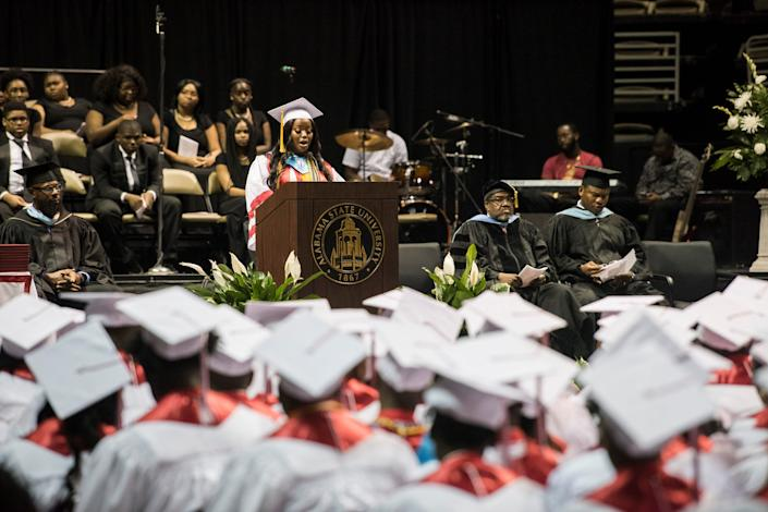 Robert E. Lee High School Graduation at the Dunn-Oliver Acadome in Montgomery, Ala., on Friday, May 17, 2019.