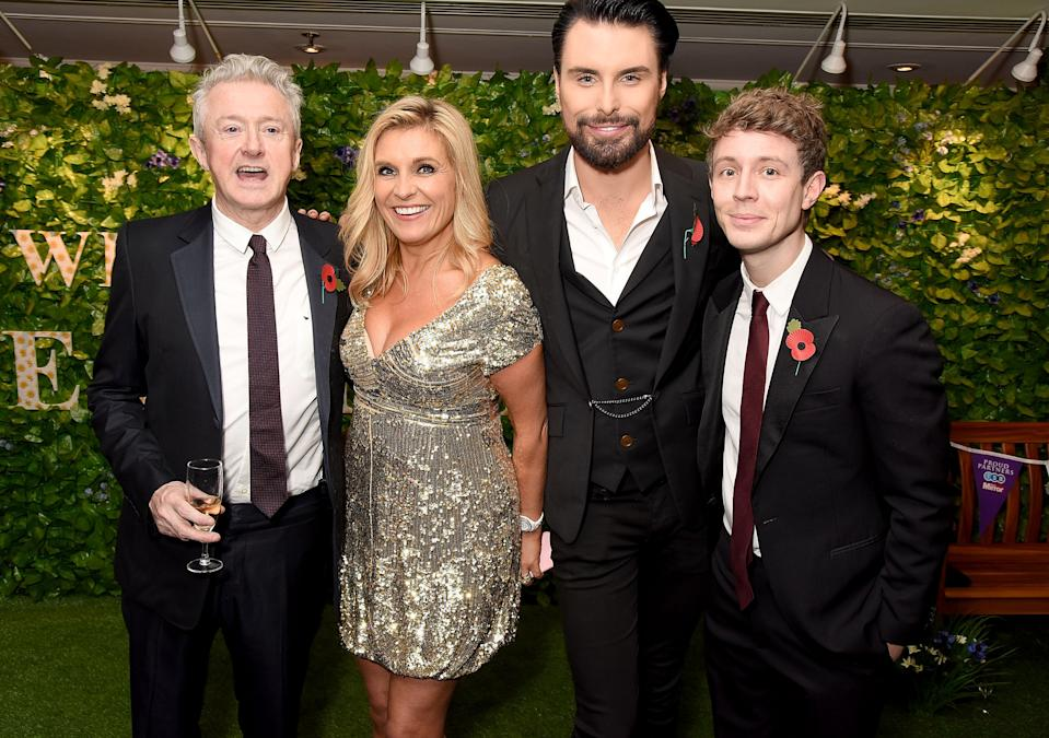 LONDON, ENGLAND - OCTOBER 31: (L-R) Louis Walsh, guest, Rylan Clark-Neal and Matt Edmondson attend the Daily Mirror Pride of Britain Awards in Partnership with TSB at The Grosvenor House Hotel on October 31, 2016 in London, England. The show will be broadcast on ITV on Tuesday November 1st at 8pm. (Photo by Dave J Hogan/Dave Hogan/Getty Images)
