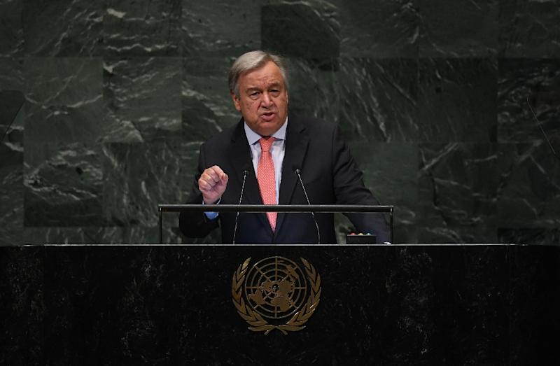 Trump, Guterres discuss terrorism, proliferation at UN General Assembly