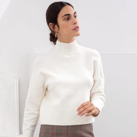 & Other Stories Cropped Mock Neck Sweater - Credit: & Other Stories