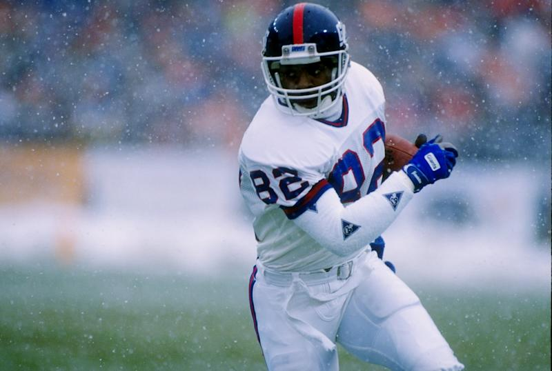 Mark Ingram, a member of the New York Giants' 1990 Super Bowl team, is asking federal prosecutors to be released from prison into home confinement amid the coronavirus pandemic. (Tim de Frisco/Allsport)