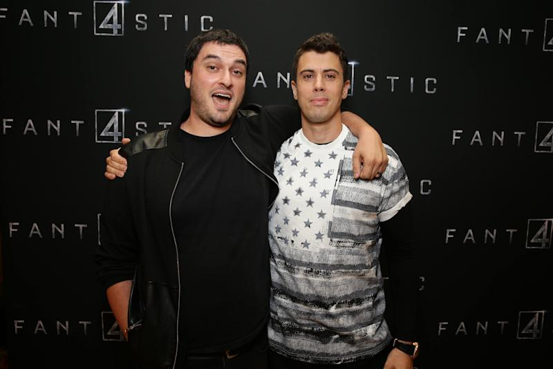 "Director Josh Trank and Toby Kebbell seen at Twentieth Century Fox ""Fantastic Four"" Screening at AMC Century City 15 on Tuesday, August 04, 2015, in Culver City, CA. (Photo by Eric Charbonneau/Invision for Twentieth Century Fox/AP Images)"