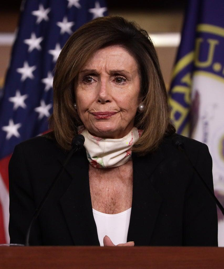 WASHINGTON, DC – MAY 28: U.S. Speaker of the House Rep. Nancy Pelosi (D-CA) speaks during a weekly news conference May 28, 2020 on Capitol Hill in Washington, DC. Speaker Pelosi discussed various topics including the death of George Floyd after being detained by police in Minneapolis, Minnesota, and the imposing of national security law to override Hong Kong's autonomy by the Chinese government. (Photo by Alex Wong/Getty Images)