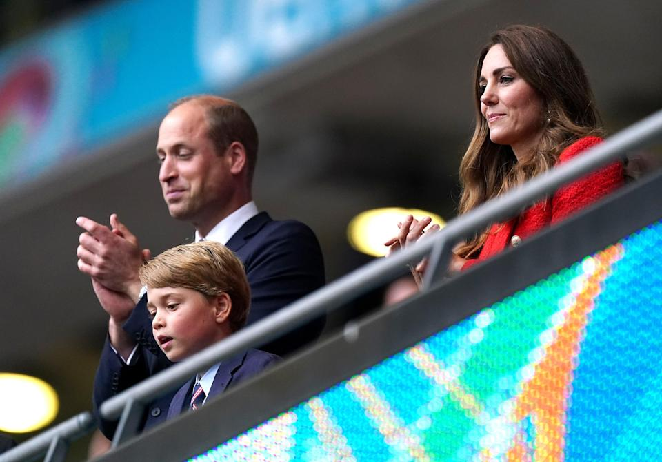 Prince George, William and Kate join thousands of England fans for Euro 2020 clash with Germany  (PA Wire)