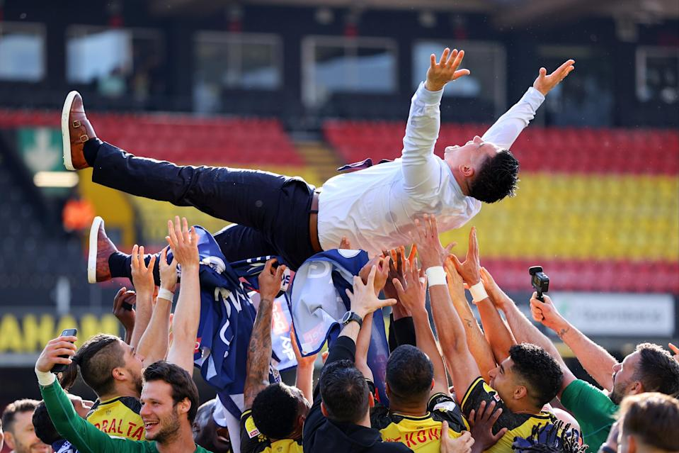 Munoz and his players celebrateGetty Images