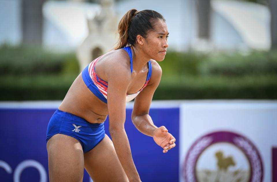 Philippine women's national beach volleyball player Bernadeth Pons. (Photo: AVC - Asian Volleyball Confederation/Facebook)