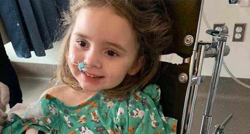 4-year-old Jade DeLucia went blind as a complication from the flu. (Photo: GoFundMe)