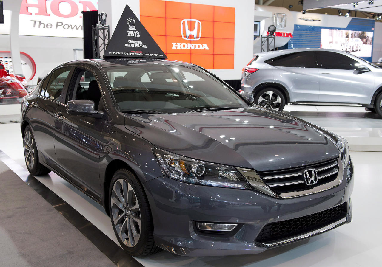 <p>The Canadian Car of the Year, the Honda Accord, at the Canadian International Auto Show in Toronto on February 14, 2013THE CANADIAN PRESS/Frank Gunn</p>
