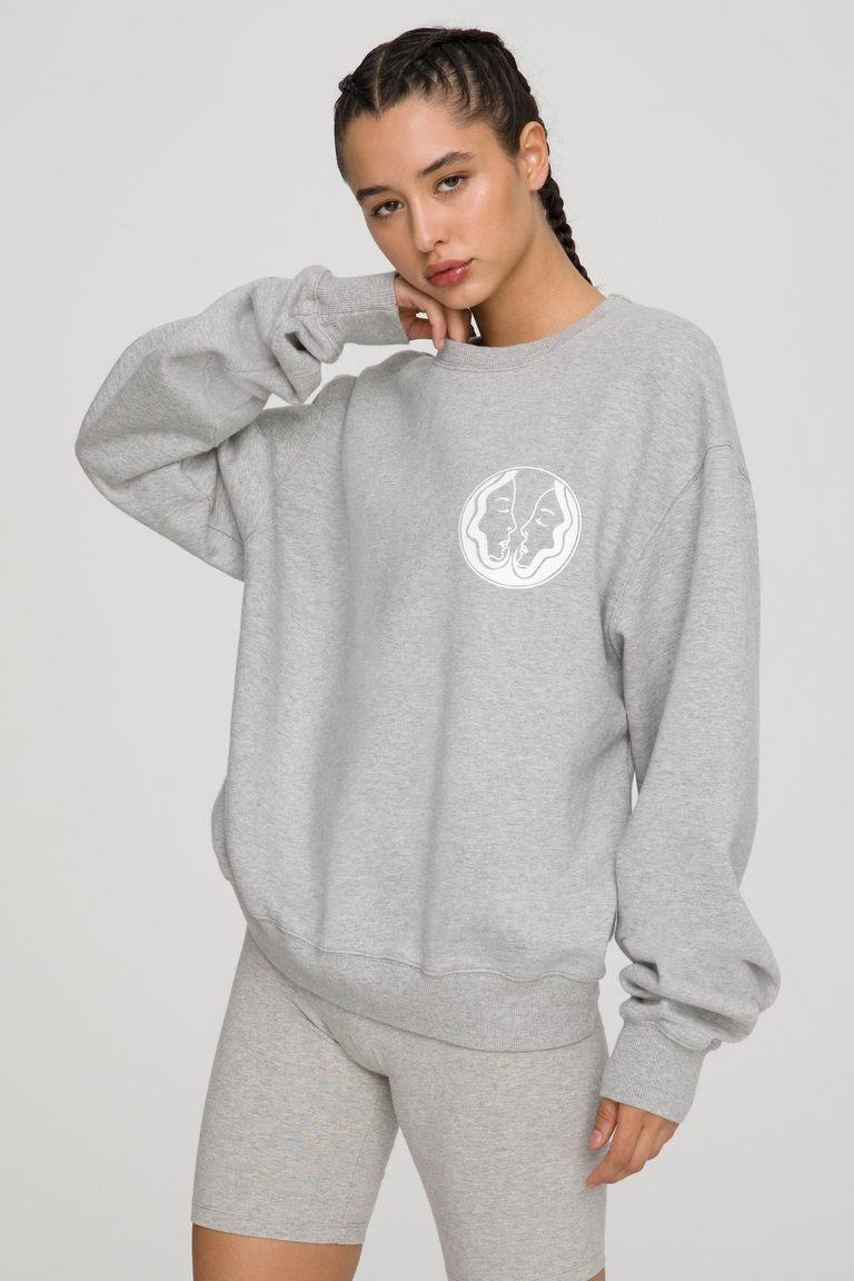 The Gemini Zodiac Sweat Set by Good American. Sweatshirt, $124 and Sweatpants, $105.