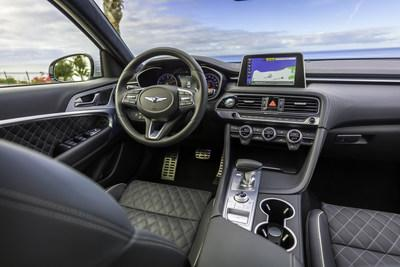 "The sporty, yet elegant ""Top 10"" interior of the 2020 G70."