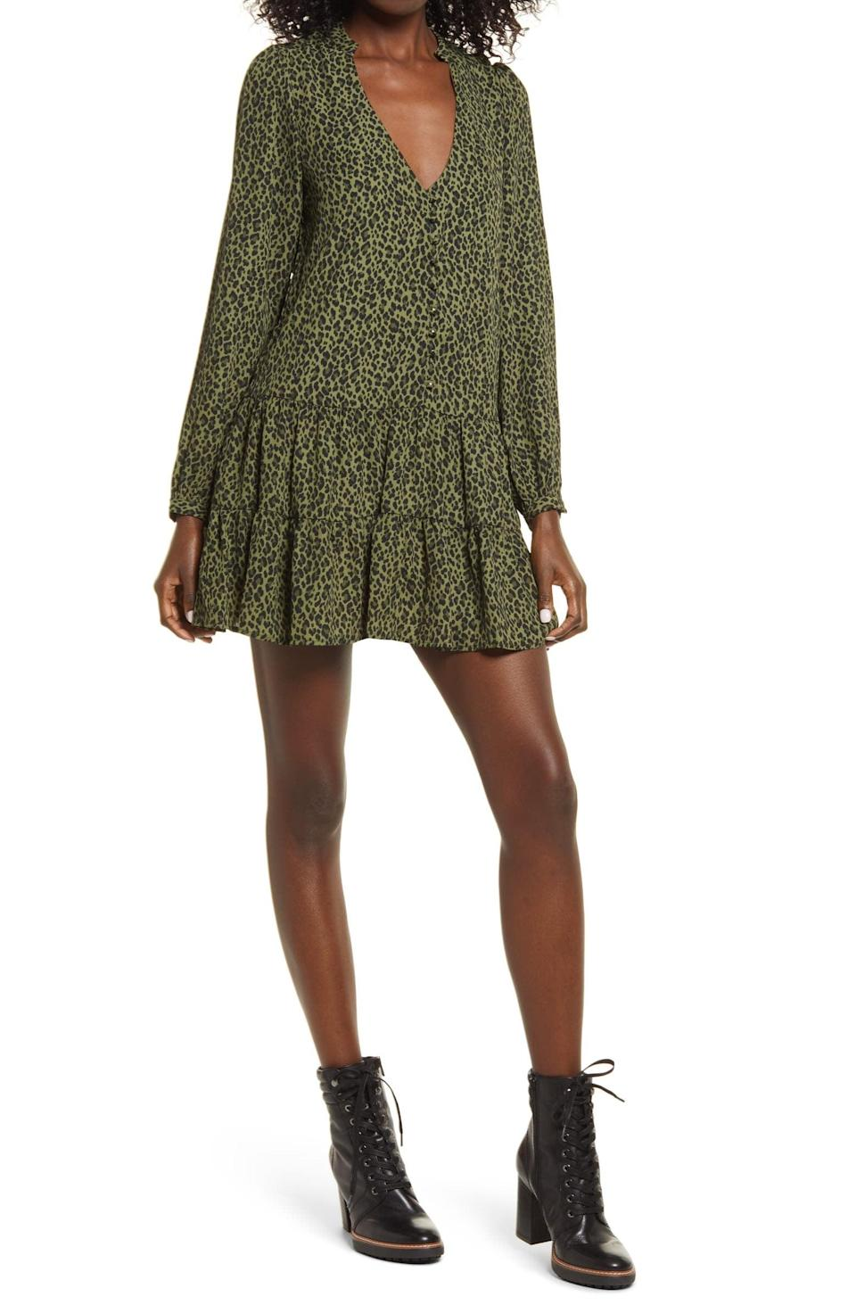 <p>When in doubt, throw this <span>Row A Long Sleeve Minidress</span> ($49) on and call it a day.</p>