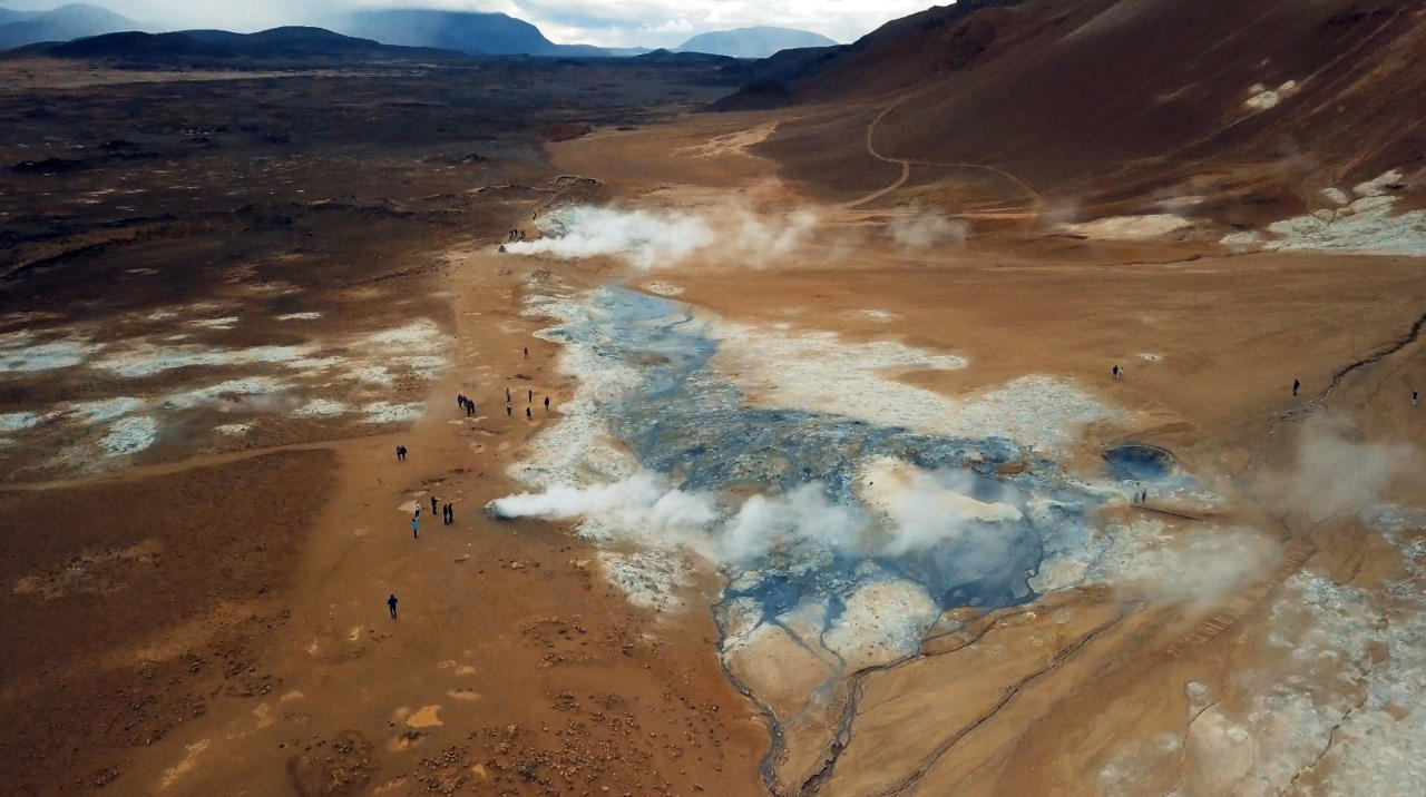 <p>Drone footage highlights more than a dozen of Iceland's natural beauty spots in their rawest forms. (Photo: Ran Rosenzweig/Caters News) </p>
