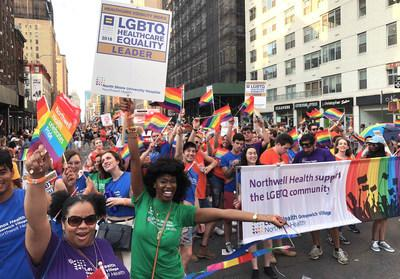 Northwell Health employees participate in last year's NYC Pride March.